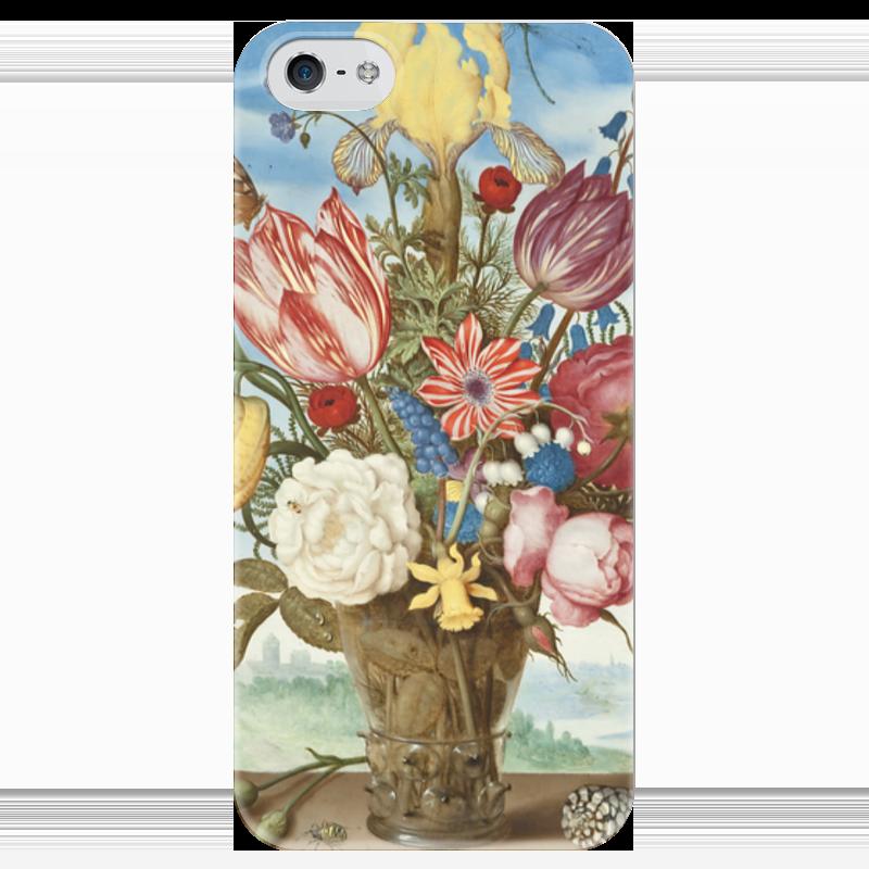 Чехол для iPhone 5 глянцевый, с полной запечаткой Printio Букет цветов на полке (амброзиус босхарт) амброзиус босхарт