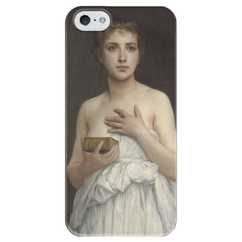 Чехол для iPhone 5 глянцевый, с полной запечаткой Printio Пандора (pandore)