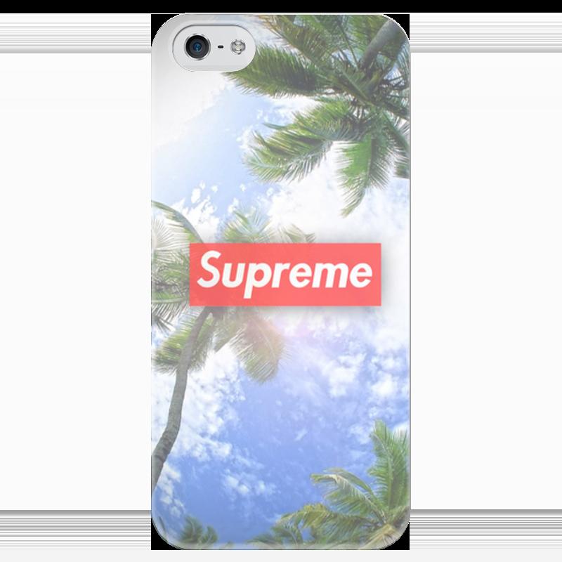Чехол для iPhone 5 глянцевый, с полной запечаткой Printio Supreme чехол для iphone 4 глянцевый с полной запечаткой printio supreme