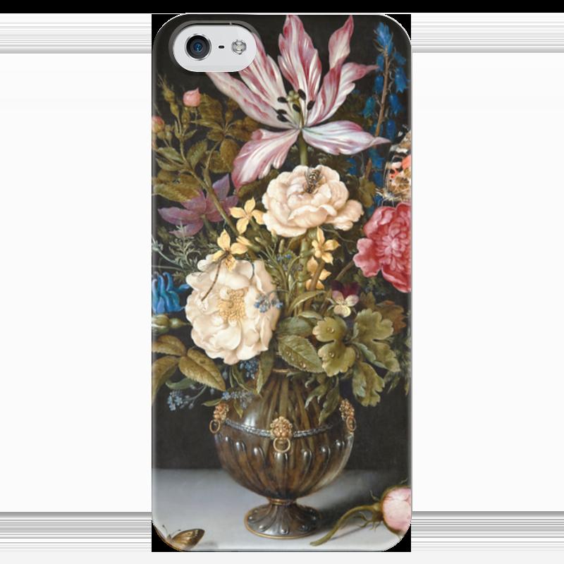 Чехол для iPhone 5 глянцевый, с полной запечаткой Printio Натюрморт с цветами (амброзиус босхарт старший) амброзиус босхарт