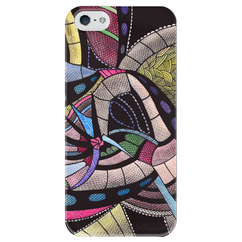Чехол для iPhone 5 глянцевый, с полной запечаткой Printio Абстракция чехол для iphone 5 printio чехол с мыслями о любви