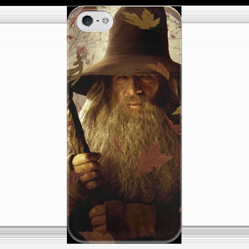 Чехол для iPhone 5 глянцевый, с полной запечаткой Printio Гэндальф