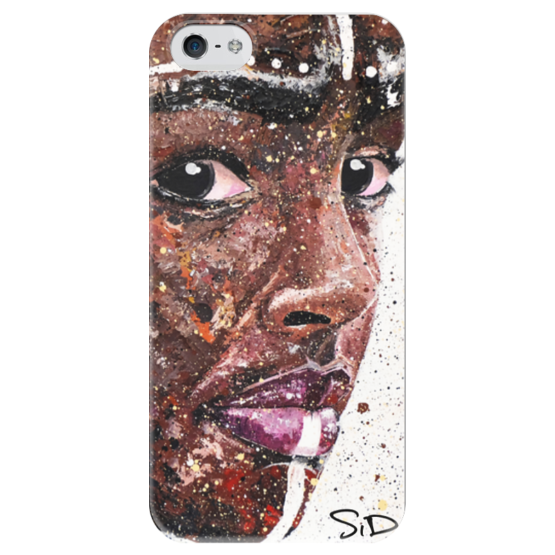 Чехол для iPhone 5 глянцевый, с полной запечаткой Printio Эфиопка серова м вся прелесть стриптиза