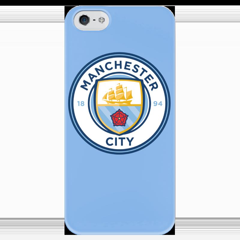 Чехол для iPhone 5 глянцевый, с полной запечаткой Printio Manchester city чехол для iphone 5 printio night city