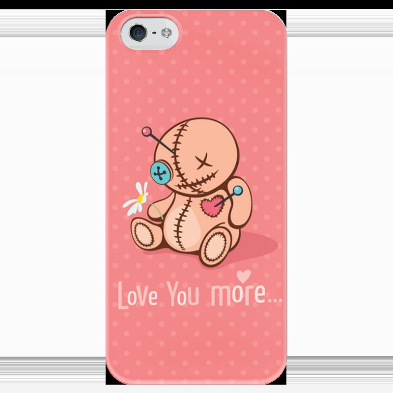 Чехол для iPhone 5 глянцевый, с полной запечаткой Printio Love you more... стоимость