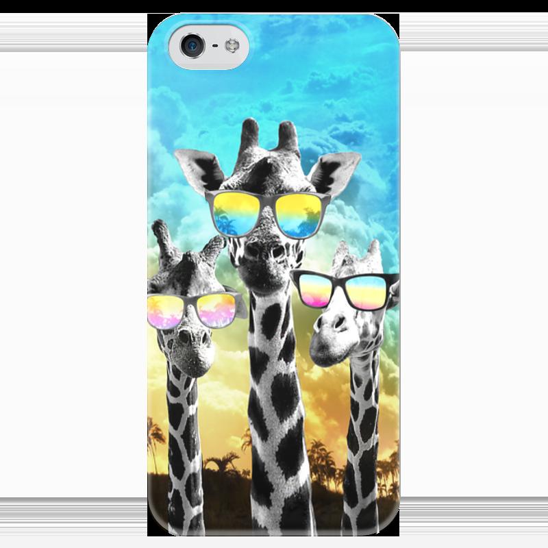 Чехол для iPhone 5 глянцевый, с полной запечаткой Printio Жирафы lori фоторамки из гипса жирафы