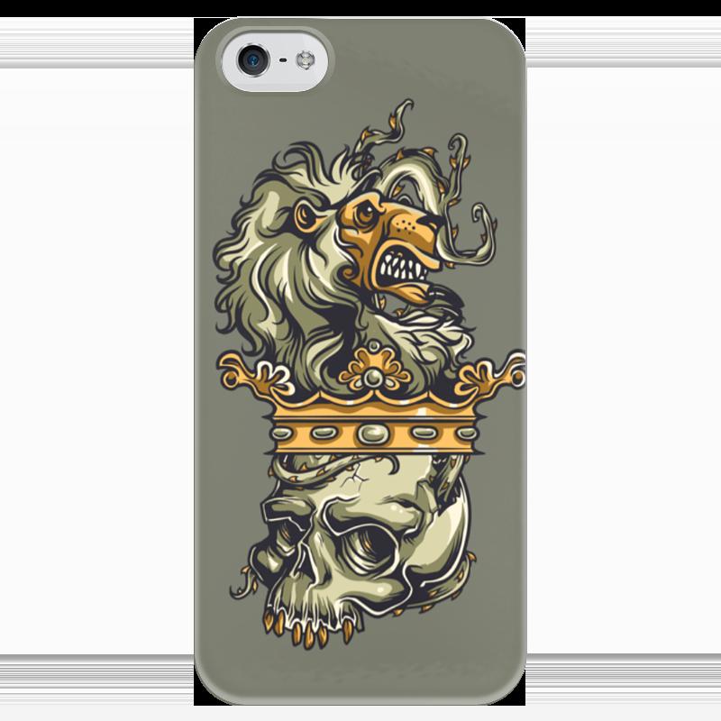 Чехол для iPhone 5 глянцевый, с полной запечаткой Printio Череп и лев чехол для iphone 4 глянцевый с полной запечаткой printio череп