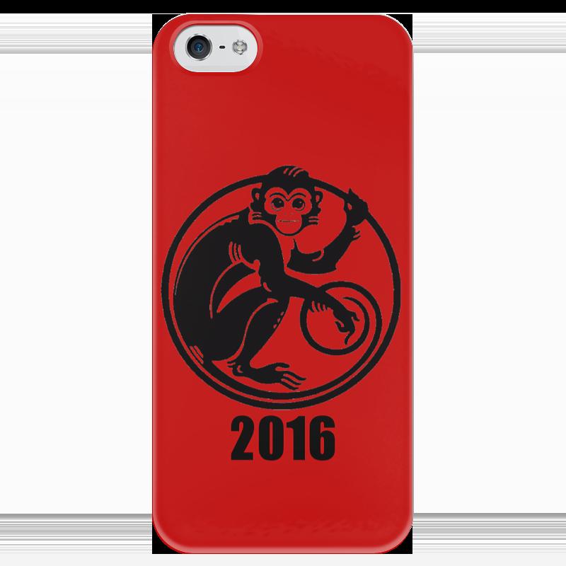 Чехол для iPhone 5 глянцевый, с полной запечаткой Printio 2016 год - год красной обезьяны валентин рунов удар по украине вермахт против красной армии