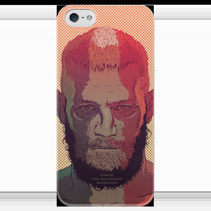 Чехол для iPhone 5 глянцевый, с полной запечаткой Printio Макгрегор чехол для iphone 5 глянцевый с полной запечаткой printio ember spirit dota 2