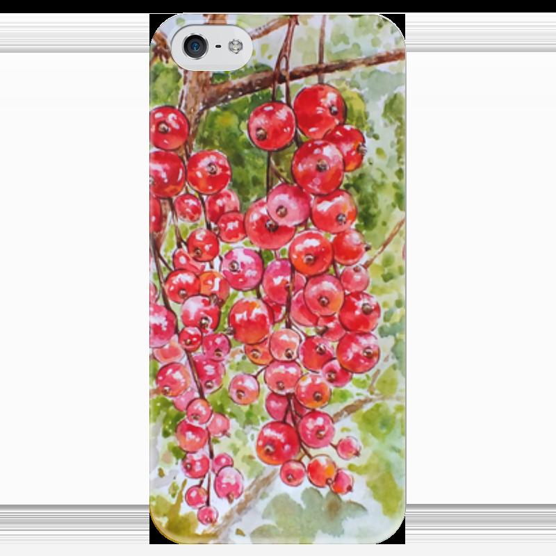 Чехол для iPhone 5 глянцевый, с полной запечаткой Printio Красная смородина смородина красная каскад