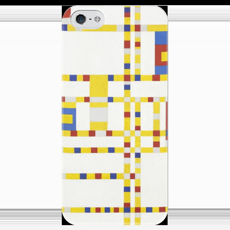 Чехол для iPhone 5 глянцевый, с полной запечаткой Printio Бродвей буги-вуги (питер мондриан) чехол для samsung galaxy s5 printio бродвей буги вуги питер мондриан