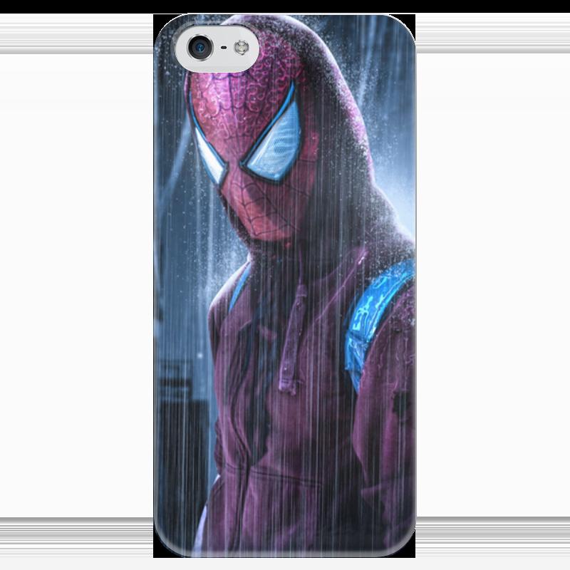 Чехол для iPhone 5 глянцевый, с полной запечаткой Printio Человек-паук (spider-man) рюкзак с полной запечаткой printio spider man человек паук