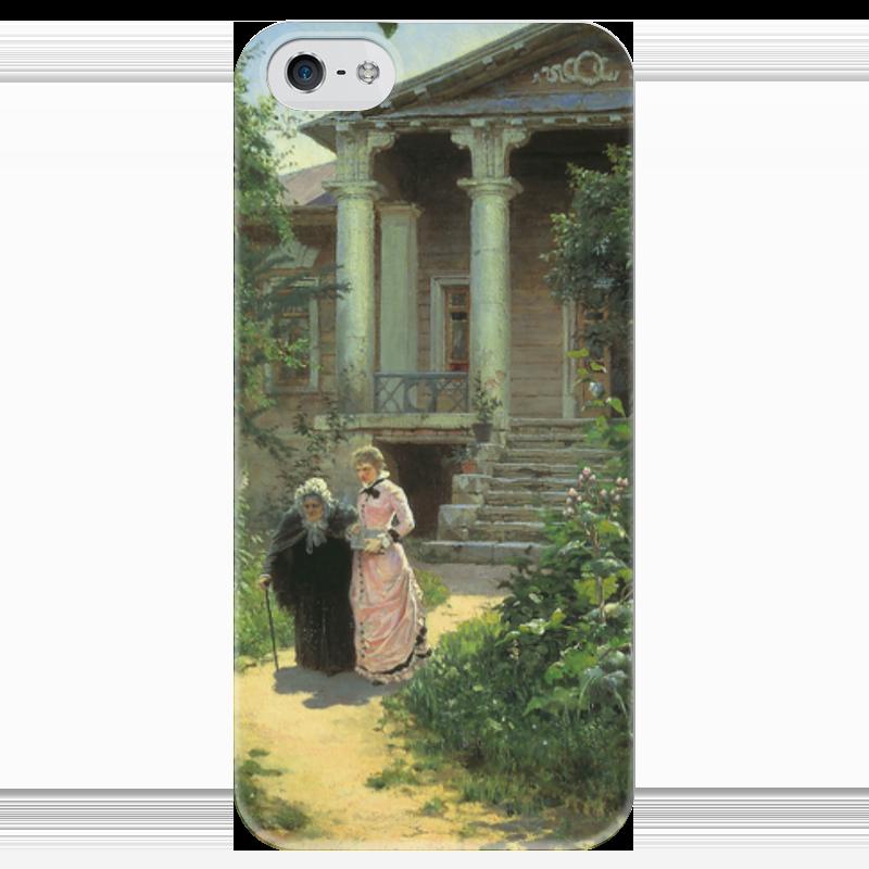 Чехол для iPhone 5 глянцевый, с полной запечаткой Printio Бабушкин сад чехол для iphone 6 глянцевый printio летний сад