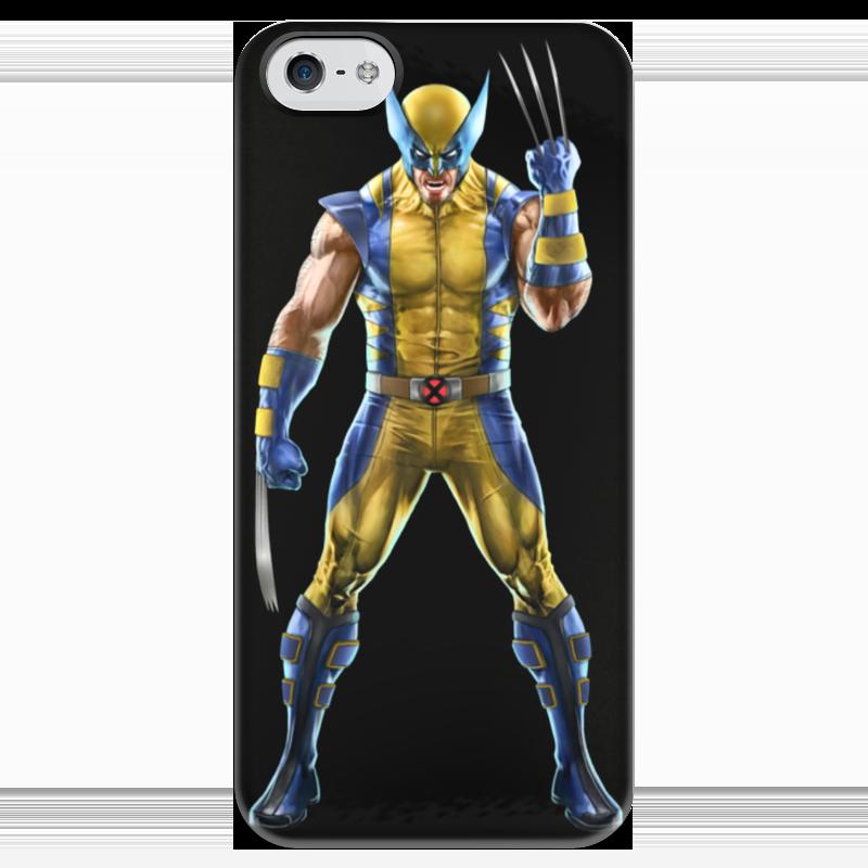 Чехол для iPhone 5 глянцевый, с полной запечаткой Printio Wolverine / росомаха футболка с полной запечаткой для девочек printio росомаха wolverine логан