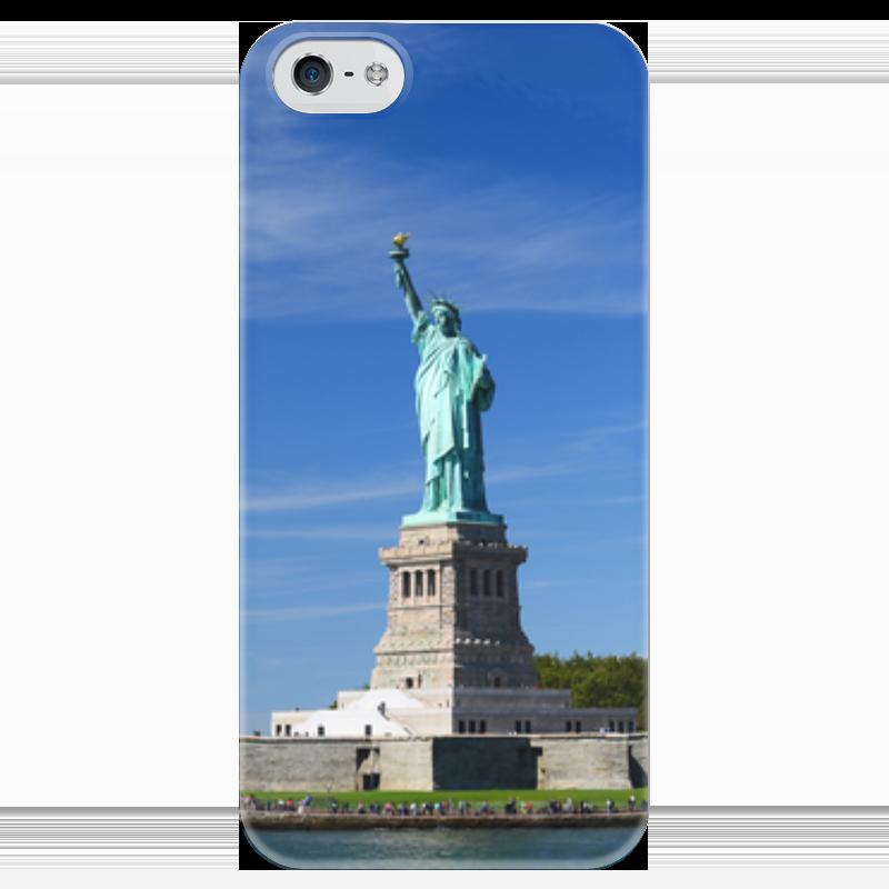 Чехол для iPhone 5 глянцевый, с полной запечаткой Printio Статуя свободы наборы для поделок цветной алмазная мозаика статуя свободы