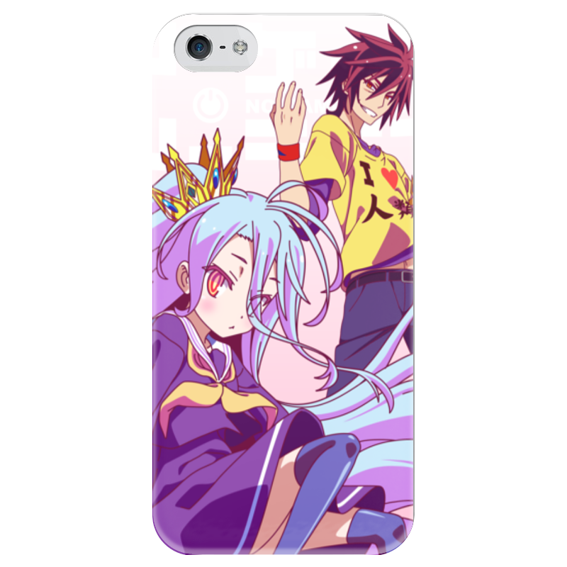 Чехол для iPhone 5 глянцевый, с полной запечаткой Printio No game no life free shipping 5 no game no life anime jibril angel wings 1 7 scale boxed 13cm pvc action figure collection model doll toys gift