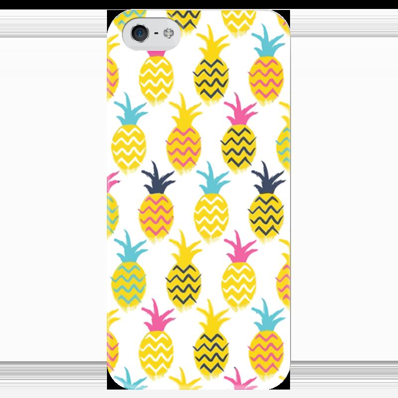 Чехол для iPhone 5 глянцевый, с полной запечаткой Printio Ананасы чехол для iphone 5 глянцевый с полной запечаткой printio бабушкин сад