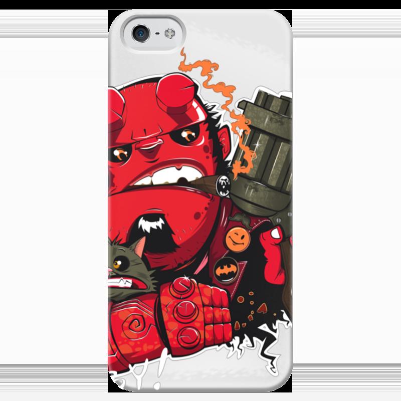 Чехол для iPhone 5 глянцевый, с полной запечаткой Printio Hellboy чехол для iphone 5 глянцевый с полной запечаткой printio dota2 ip5