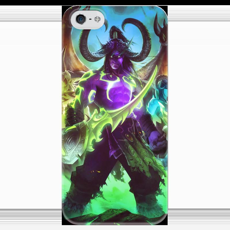 Чехол для iPhone 5 глянцевый, с полной запечаткой Printio Warcraft: illidan чехол для iphone 4 глянцевый с полной запечаткой printio иллидан