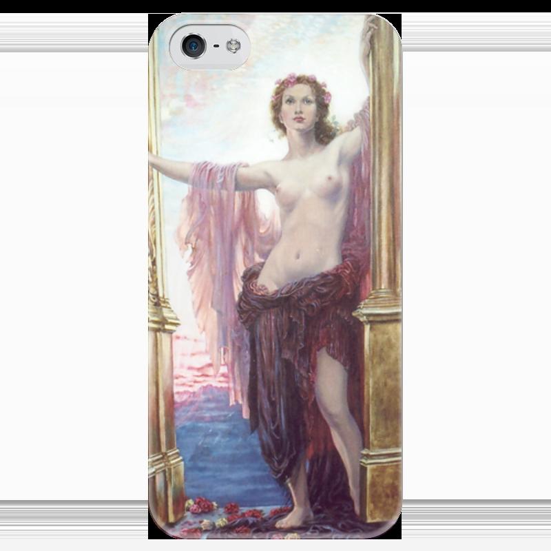 Чехол для iPhone 5 глянцевый, с полной запечаткой Printio В��рота рассвета