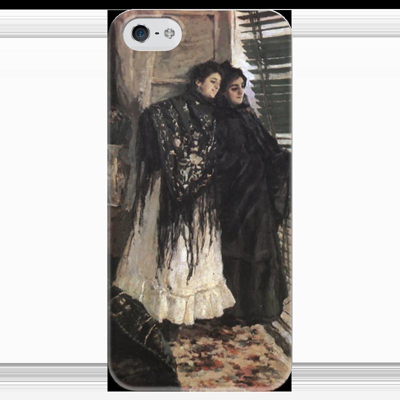 Чехол для iPhone 5 глянцевый, с полной запечаткой Printio У балкона. испанки леонора и ампара