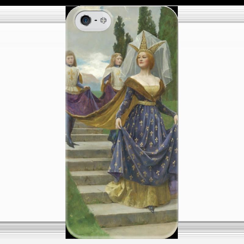 Чехол для iPhone 5 глянцевый, с полной запечаткой Printio Знатная дама (джон кольер)