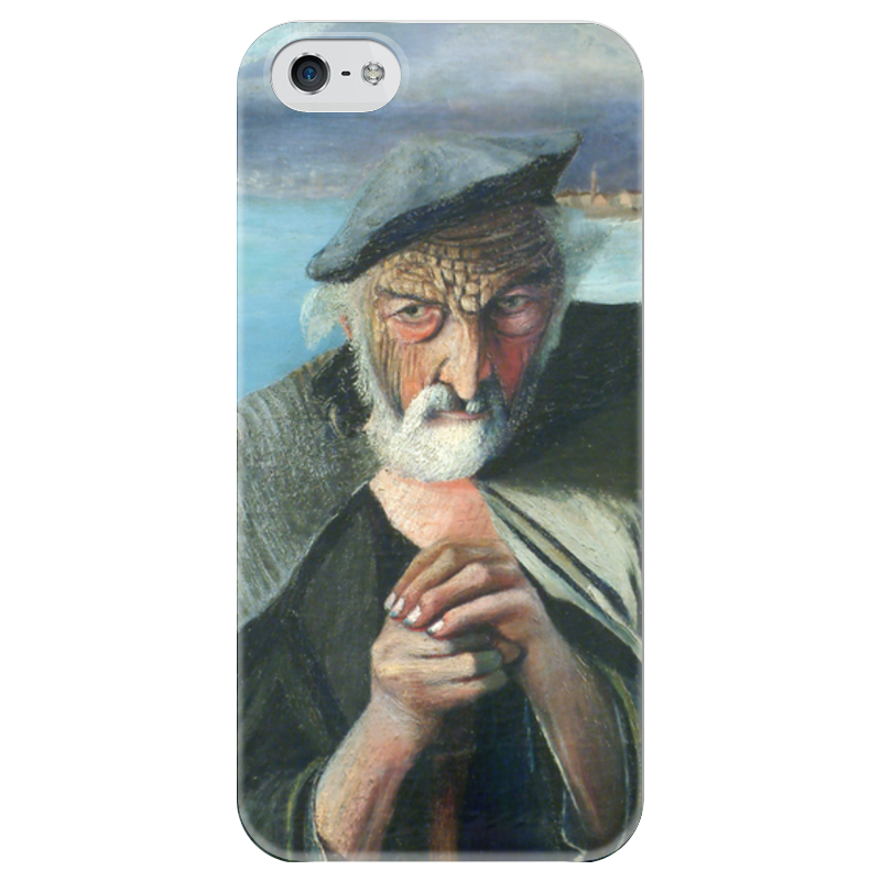 Чехол для iPhone 5 глянцевый, с полной запечаткой Printio Старый рыбак (тивадар чонтварив) антипирен старый вяз в москве