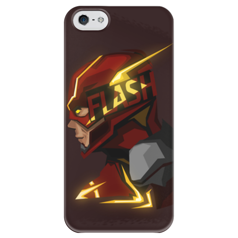 Чехол для iPhone 5 глянцевый, с полной запечаткой Printio Flash чехол для iphone 5 глянцевый с полной запечаткой printio иллид