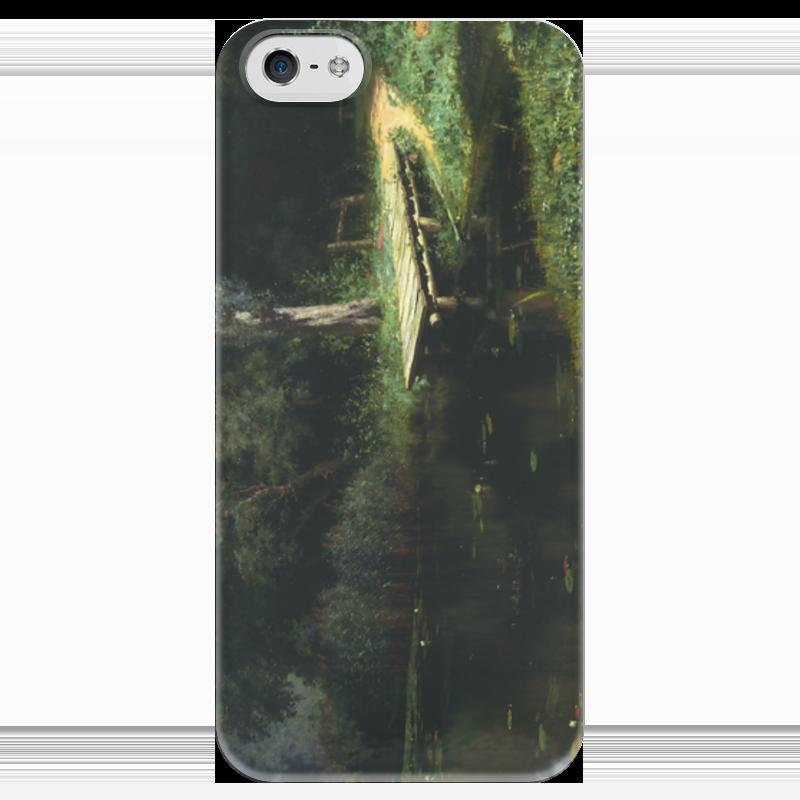 Чехол для iPhone 5 глянцевый, с полной запечаткой Printio Заросший пруд (картина поленова) пруд садовый в екатеринбурге