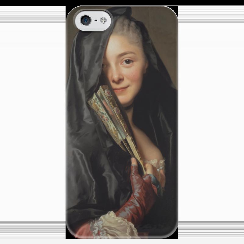 Чехол для iPhone 5 глянцевый, с полной запечаткой Printio Дама под вуалью (картина рослина) картины pavone картина дама картина