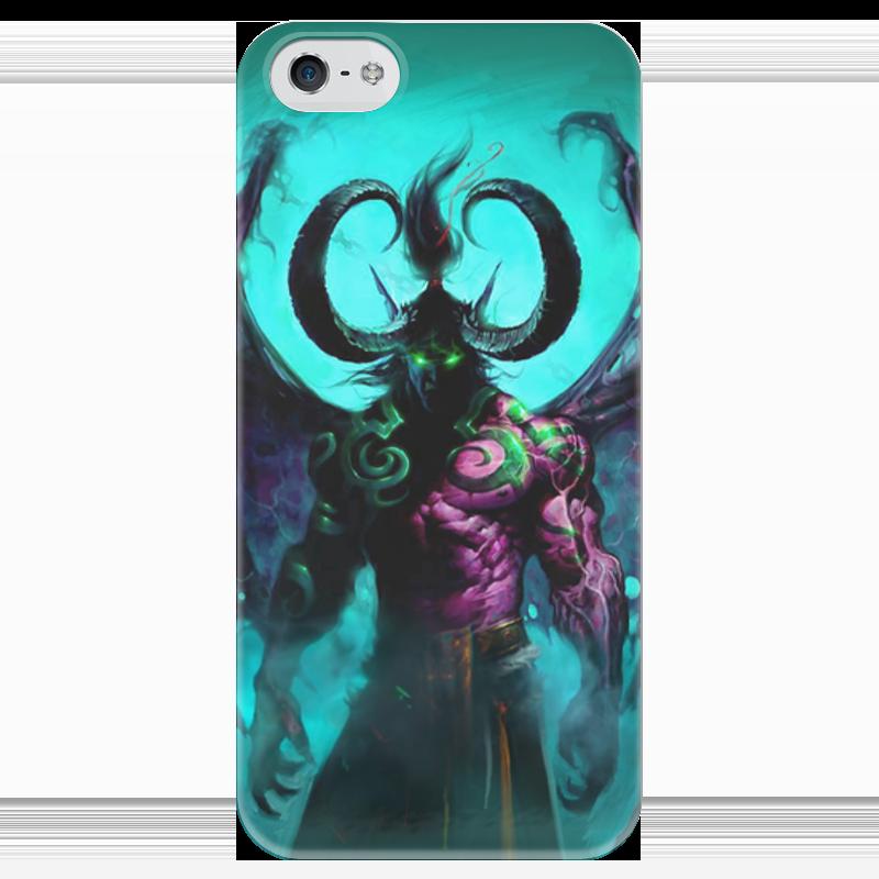 Чехол для iPhone 5 глянцевый, с полной запечаткой Printio Warcraft collection: illidan чехол для iphone 4 глянцевый с полной запечаткой printio warcraft collection panda