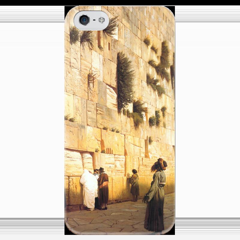 Чехол для iPhone 5 глянцевый, с полной запечаткой Printio Стена плача (жан-леон жером) чехол для iphone 5 глянцевый с полной запечаткой printio последняя молитва христианских мучеников жером