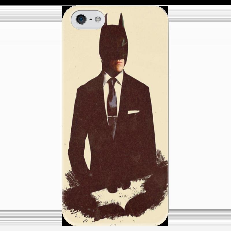 Чехол для iPhone 5 глянцевый, с полной запечаткой Printio Batman art чехол для iphone 7 глянцевый printio horror art