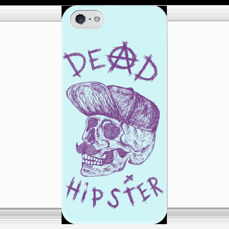 Чехол для iPhone 5 глянцевый, с полной запечаткой Printio Deadhipster чехол для iphone 5 глянцевый с полной запечаткой printio цикличность