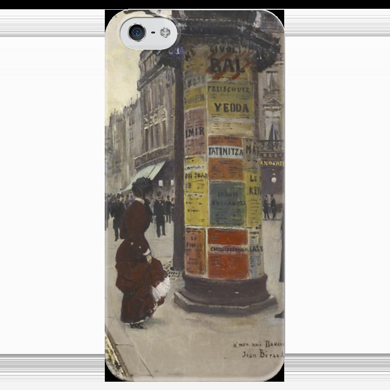 Чехол для iPhone 5 глянцевый, с полной запечаткой Printio Парижский киоск (жан беро) салонный фильтр мазда демио dy3w