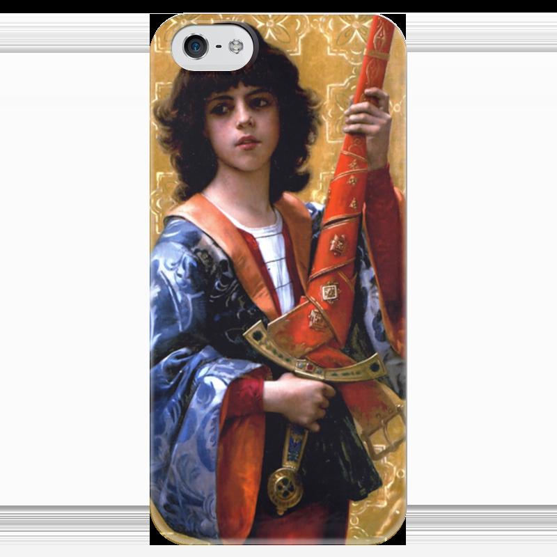 Чехол для iPhone 5 глянцевый, с полной запечаткой Printio Паж (картина кабанеля) чехол для iphone 5 с подставкой с полной запечаткой printio паж картина кабанеля