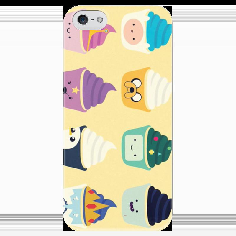 Чехол для iPhone 5 глянцевый, с полной запечаткой Printio Adventure time чехол для iphone 6 глянцевый printio adventure time fun art