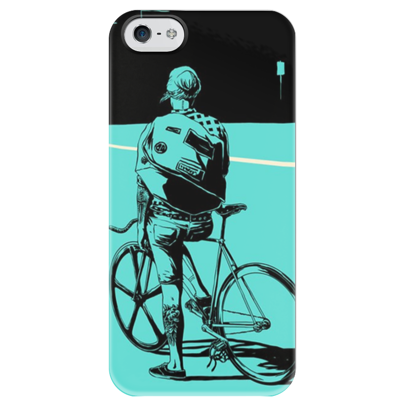 Чехол для iPhone 5 глянцевый, с полной запечаткой Printio С велосипедом чехол для iphone 5 с подставкой с полной запечаткой printio осень