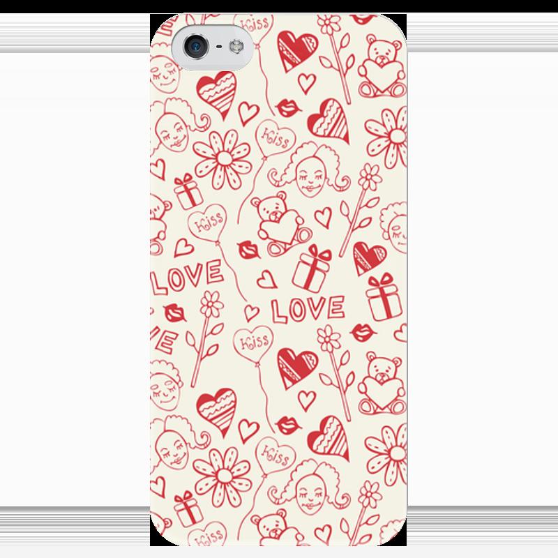 Чехол для iPhone 5 глянцевый, с полной запечаткой Printio Love чехол для iphone 5 глянцевый с полной запечаткой printio ember spirit dota 2