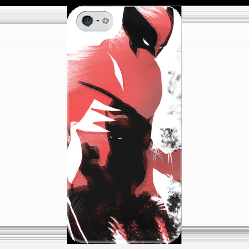 Чехол для iPhone 5 глянцевый, с полной запечаткой Printio Росомаха чехол для iphone 5 глянцевый с полной запечаткой printio последняя молитва христианских мучеников жером
