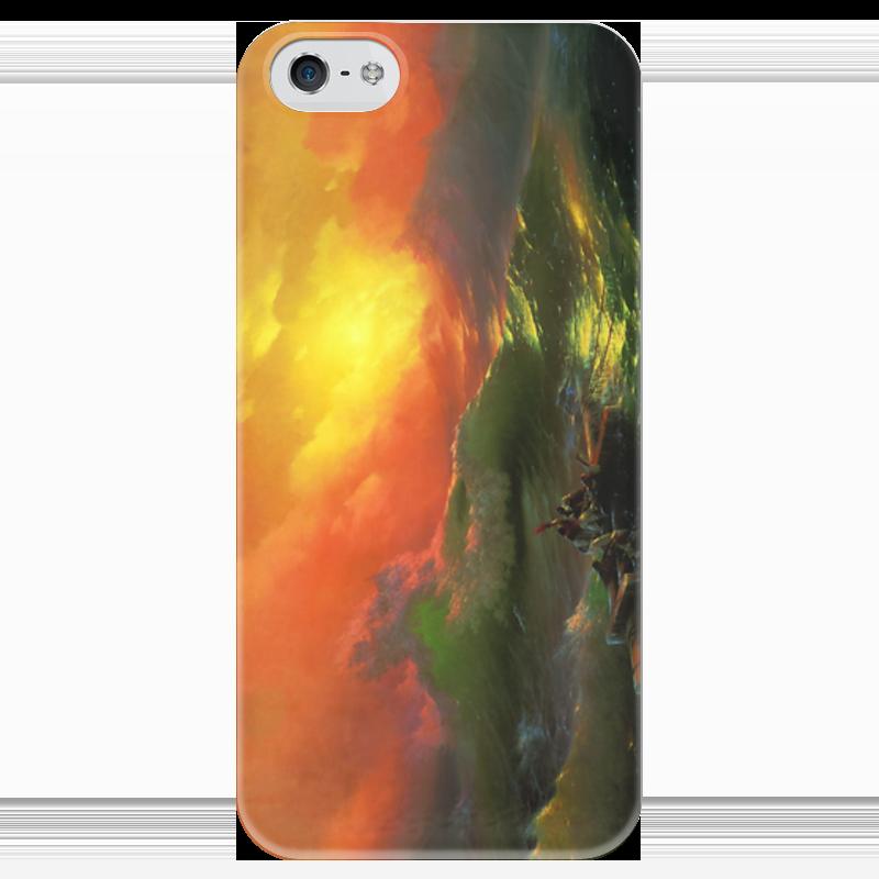 Чехол для iPhone 5 глянцевый, с полной запечаткой Printio Девятый вал (картина айвазовского) чехол для iphone 7 объёмная печать printio девятый вал картина айвазовского