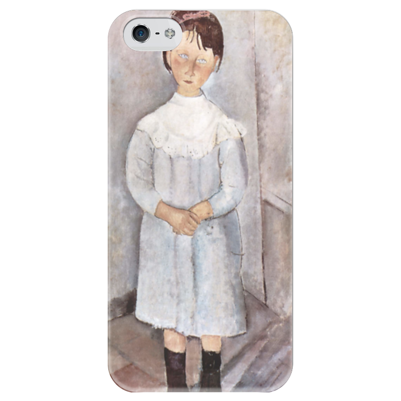 Чехол для iPhone 5 глянцевый, с полной запечаткой Printio Девочка в голубом платье чехол для iphone 5 глянцевый с полной запечаткой printio дама в голубом картина гейнсборо