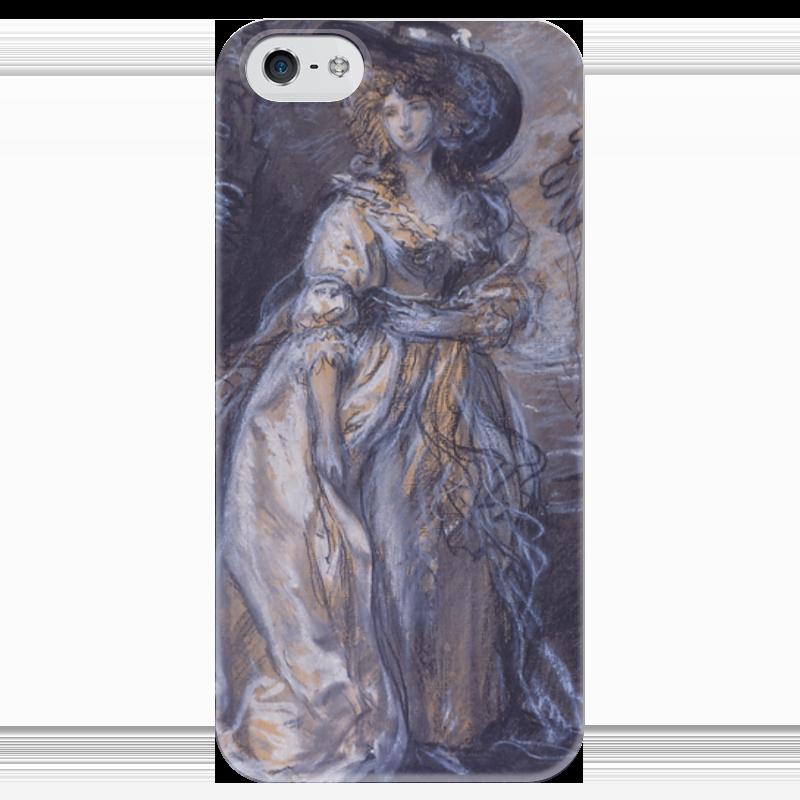 Чехол для iPhone 5 глянцевый, с полной запечаткой Printio Study of a lady чехол для iphone 4 глянцевый с полной запечаткой printio study of a lady