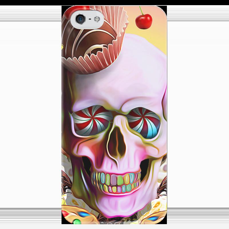 Чехол для iPhone 5 глянцевый, с полной запечаткой Printio Sweet skull чехол для iphone 5 глянцевый с полной запечаткой printio red skull