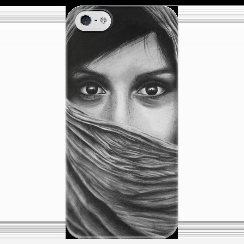 Чехол для iPhone 5 глянцевый, с полной запечаткой Printio Взгляд чехол