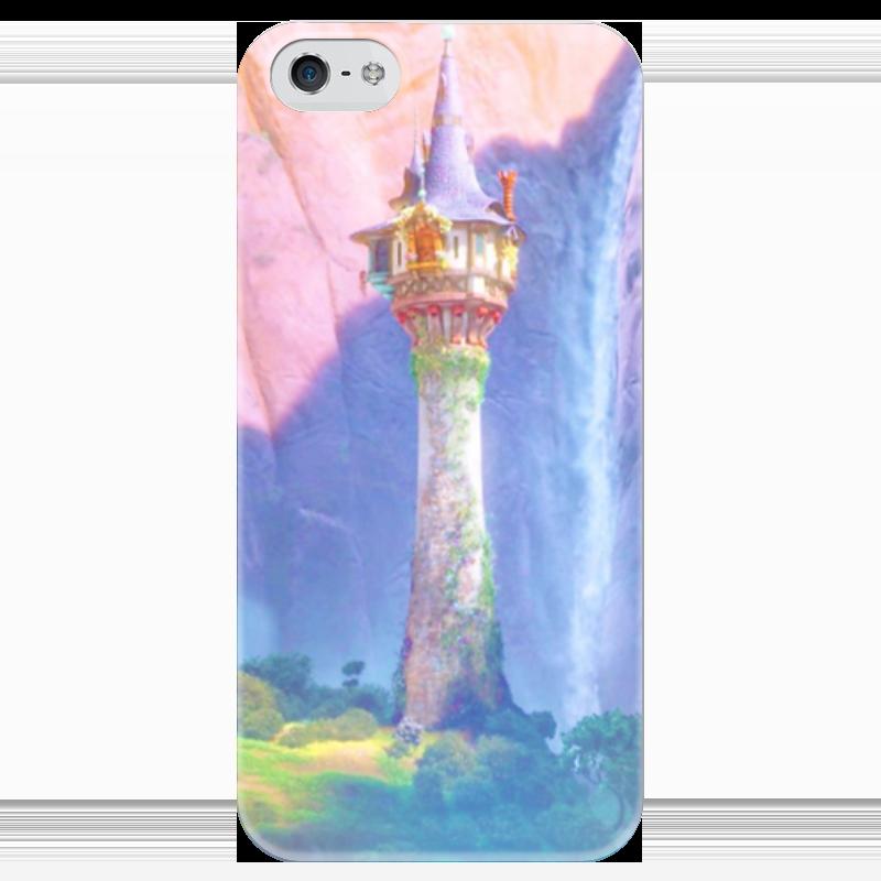 Чехол для iPhone 5 глянцевый, с полной запечаткой Printio Высокая башня цена