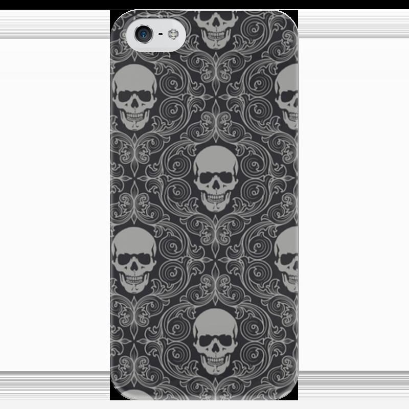 Чехол для iPhone 5 глянцевый, с полной запечаткой Printio Texture skull чехол для iphone 5 глянцевый с полной запечаткой printio red skull