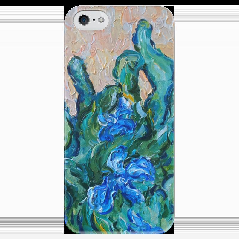 Чехол для iPhone 5 глянцевый, с полной запечаткой Printio Весеннее настроение чехлы для телефонов with love moscow силиконовый дизайнерский чехол для meizu m3s перья