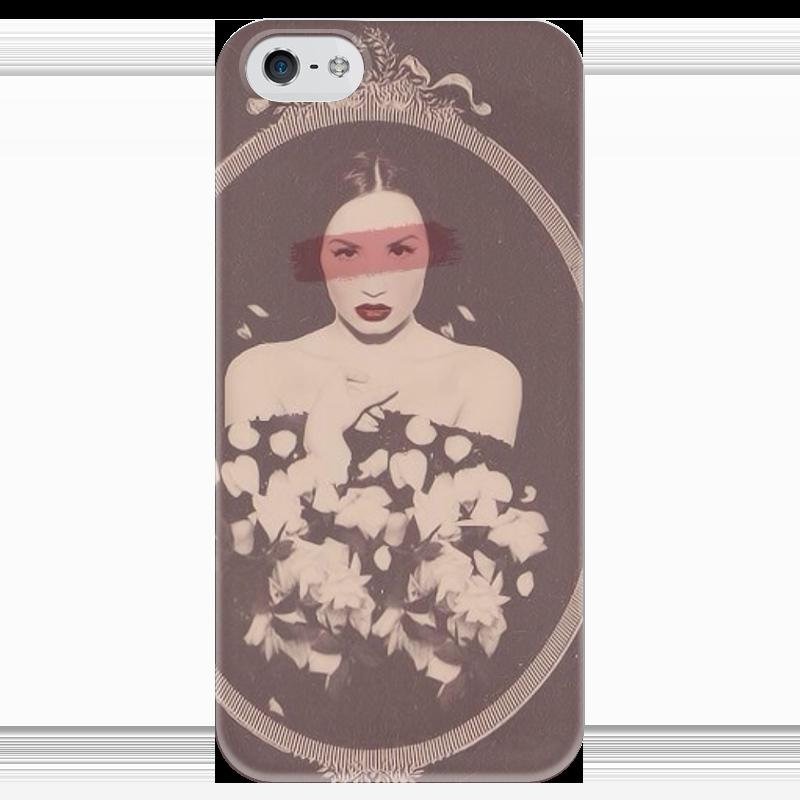 Чехол для iPhone 5 глянцевый, с полной запечаткой Printio Demi lovato case