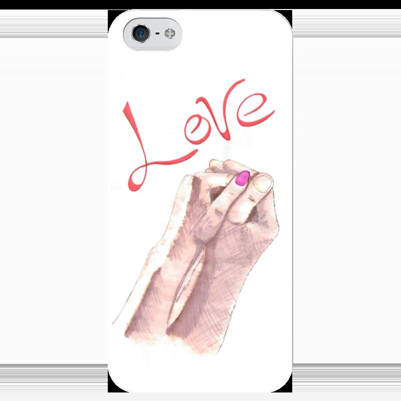 Чехол для iPhone 5 глянцевый, с полной запечаткой Printio Love! чехол для iphone 5 глянцевый с полной запечаткой printio куртизанка courtesan after eisen